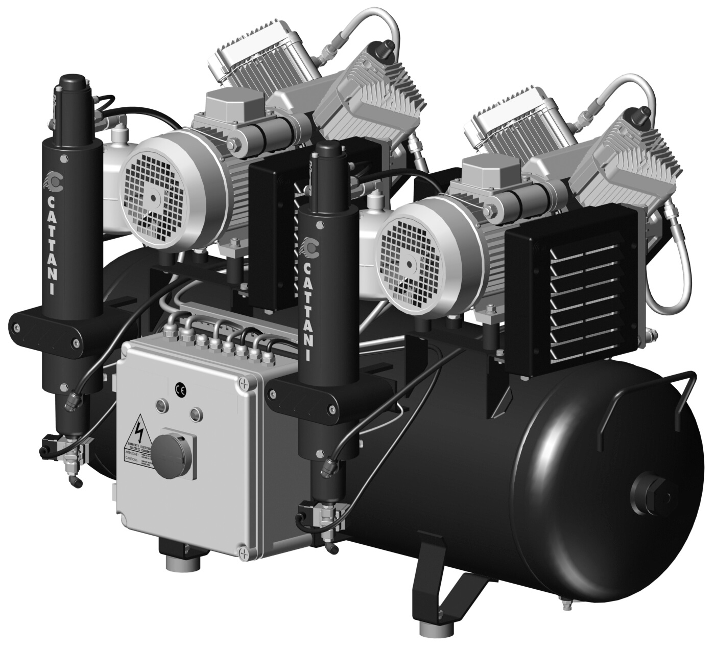 Brezoljni kompresorji AIR CARE za CAD/CAM Cattani